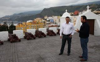 Planning the star party in the castle above Santa Cruz de La Palma