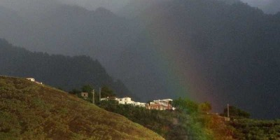 Rainbow over the Concepción headland, La Palma, Canary Islands