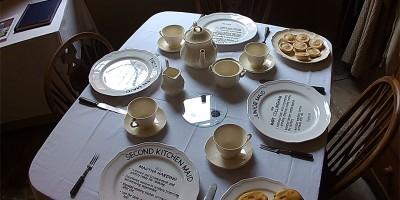 The servants dining area. Who sat where. at Attingham Park. Shropshire