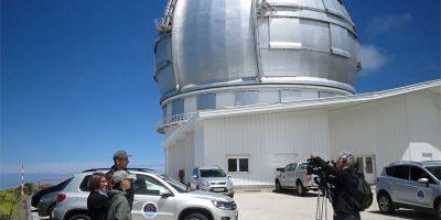 TV Interviews outside Gran Telescopio Canarias, Roque de Los Muchachos, La Palma